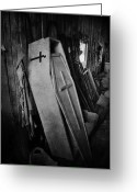 Coffin Greeting Cards - Confined  Greeting Card by Jerry Cordeiro