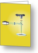 Laser Beam Greeting Cards - Confocal Microscope, Artwork Greeting Card by Claus Lunau