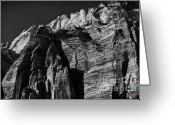 Trees And Rock Cliffs Greeting Cards - Confront ll Greeting Card by Hideaki Sakurai