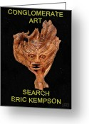 Greek Sculpture Greeting Cards - Conglomerate Art  Greeting Card by Eric Kempson
