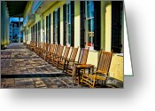 Rocking Chairs Greeting Cards - Congress Hall Rockers Greeting Card by Colleen Kammerer