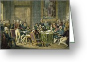 Viennese Greeting Cards - Congress Of Vienna, 1815 Greeting Card by Granger