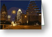 Live Music Greeting Cards - Congress Street Bridge Color 16 Greeting Card by Scott Kelley