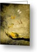 Butterflies Greeting Cards - Connect Greeting Card by Photodream Art