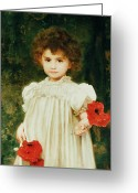 Kid Painting Greeting Cards - Connie Greeting Card by William Clark Wontner