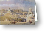 Urban Watercolour Greeting Cards - Constantinople Greeting Card by David Roberts