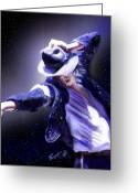 King Of Pop Greeting Cards - Constellation - Slot 89 Greeting Card by Reggie Duffie