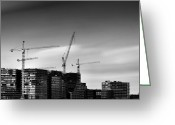 Dave Greeting Cards - Construction Greeting Card by David Bowman