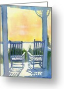 Rocking Chairs Greeting Cards - Contemplation Greeting Card by Elise Ritter