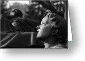 Angel Greeting Cards - Contemplation Greeting Card by Marc Huebner