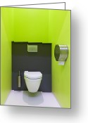 Toilet Paper Greeting Cards - Contemporary Toilet Greeting Card by Jaak Nilson