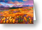 Oranges Greeting Cards - Contentment Greeting Card by Johnathan Harris