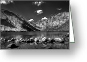 Highway Greeting Cards - Convict Lake near Mammoth Lakes California Greeting Card by Scott McGuire