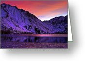 Mountain Laurel Greeting Cards - Convict Lake Sunset Greeting Card by Scott McGuire