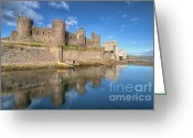 River Banks Greeting Cards - Conwy Castle Greeting Card by Adrian Evans