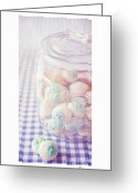 Fabric Greeting Cards - Cookie Jar Greeting Card by Priska Wettstein