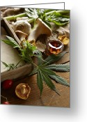 Narcotic Greeting Cards - Cooking Ingredients With Marijuana Greeting Card by Lew Robertson/Fuse
