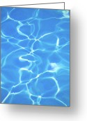 Water Swimming Pool Greeting Cards - Cool Blue Pool Greeting Card by Kelly Sillaste