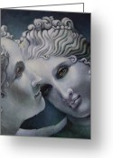 Greek Sculpture Painting Greeting Cards - Cool Muses  Greeting Card by Geraldine Arata