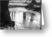 Puddle Greeting Cards - Cool Pool Greeting Card by Ed Smith