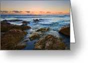 Queensland Photo Greeting Cards - Coolum Dawn Greeting Card by Mike  Dawson