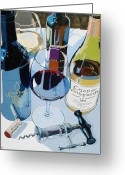 Wine Bottle Greeting Cards - Cooper Award Winners Greeting Card by Christopher Mize