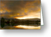 Colorado Framed Prints Greeting Cards - Coot  Lake Sunset Boulder County Colorado Greeting Card by James Bo Insogna