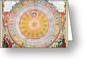 Ptolemaic Greeting Cards - Copernican Universe, 1660 Greeting Card by Granger