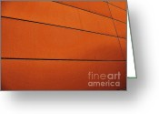 Abstract Building Greeting Cards - Copper Edge Greeting Card by Marsha Heiken