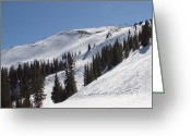 "\""colorado Resort\\\"" Greeting Cards - Copper Mountain - Union Bowl and Peak - Colorado Greeting Card by Brendan Reals"