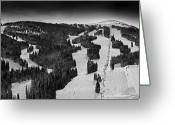 Winter Sports Photo Greeting Cards - Copper Mountain Colorado Greeting Card by Brendan Reals