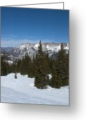 Skiing Greeting Cards - Copper Mountain Resort - Colorado Greeting Card by Brendan Reals