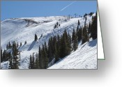 Colorado Mountains Greeting Cards - Copper Mountain Resort - Union Bowl - Colorado Greeting Card by Brendan Reals