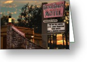 Reproductions Greeting Cards - Coral Court Motel Greeting Card by Anthony Ross