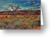 Sand Dunes Greeting Cards - Coral Dunes Greeting Card by Benjamin Yeager