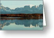 Alpine Panorama Greeting Cards - Cordillera del Paine Panorama Greeting Card by Mircea Costina Photography