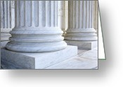 Architecture Greeting Cards - Corinthian Columns, United States Supreme Court, Washington DC Greeting Card by Paul Edmondson