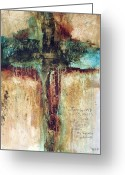 Modern Abstract Art Greeting Cards - Corinthians Greeting Card by Michel  Keck
