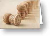 Bottle Cap Photo Greeting Cards - Corks, Close-up Greeting Card by STOCK4B Creative