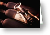 Wine Bottle Greeting Cards - Corkscrew Greeting Card by Tom Mc Nemar