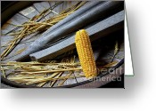 Eat Greeting Cards - Corn Cob Greeting Card by Carlos Caetano