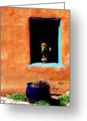 Santa Fe Greeting Cards - Corner in Santa Fe NM Greeting Card by Susanne Van Hulst