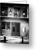 Old Street Photo Greeting Cards - Corner Restaurant Greeting Card by John Rizzuto