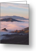 Mistic Greeting Cards - Corniana Village in Taro River Valley Greeting Card by Andrea Franchi