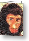 Planet Of The Apes Greeting Cards - Cornielius Mosaic Greeting Card by Paul Van Scott