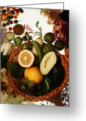 Exotic Fruits Greeting Cards - Cornucopia Of Exotic Fruit Greeting Card by Photo Researchers