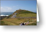 Cape Cornwall Greeting Cards - Cornwall picnic Greeting Card by Ed Lukas