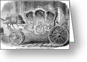 Coronation Greeting Cards - Coronation Carriage, 1855 Greeting Card by Granger