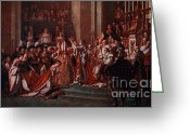 Napoleonic Wars Greeting Cards - Coronation Of Napoleon, 1804 Greeting Card by Photo Researchers