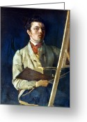 Easel Greeting Cards - Corot With Easel, 1825 Greeting Card by Granger